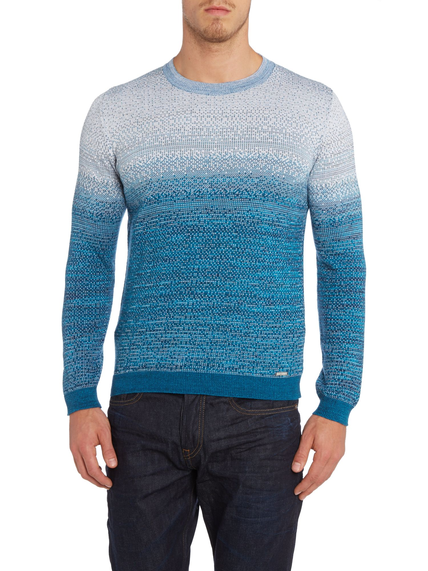 Knitted crew neck ombre