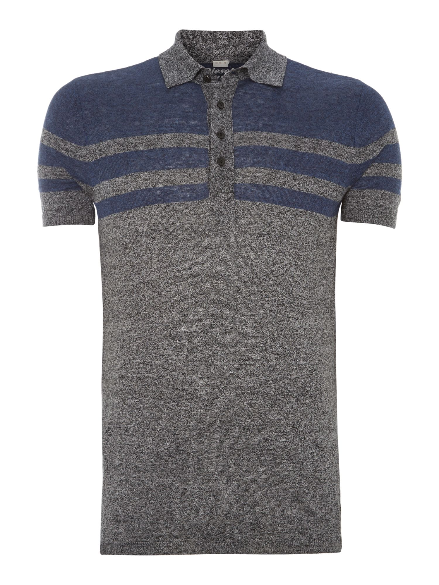 Knitted striped polo shirt