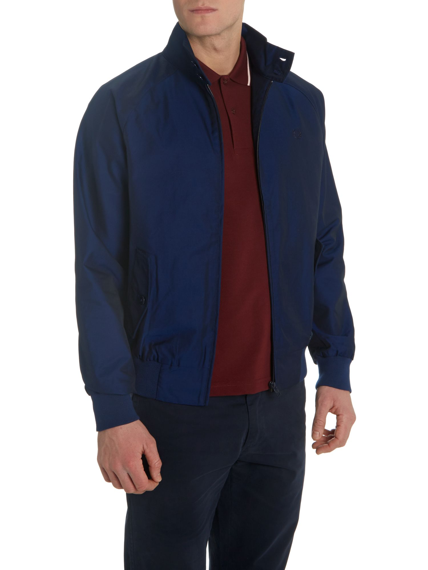 Drake`s lined tonic harrington jacket
