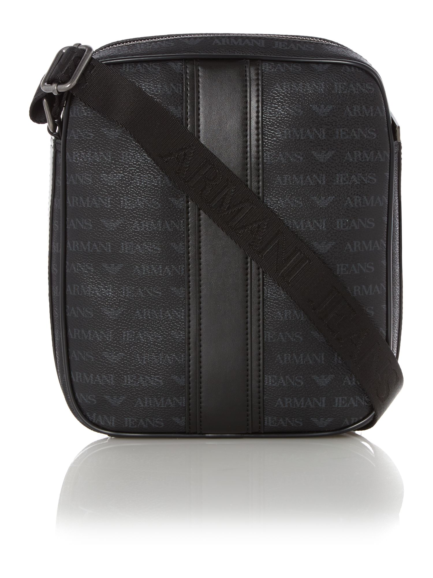 All over logo cross body bag