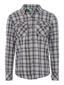 Boy`s washed check shirt