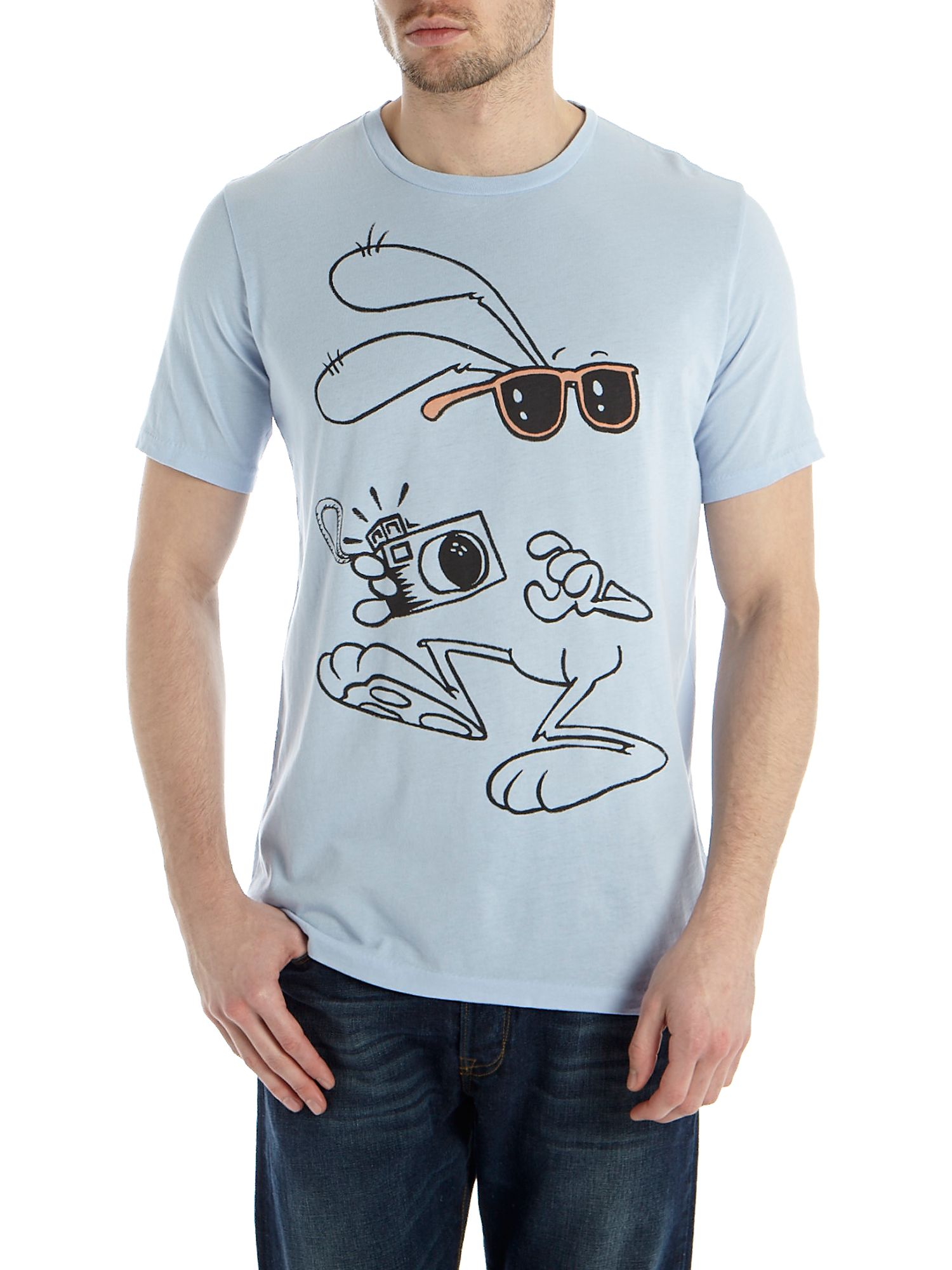 Rabbit print t-shirt