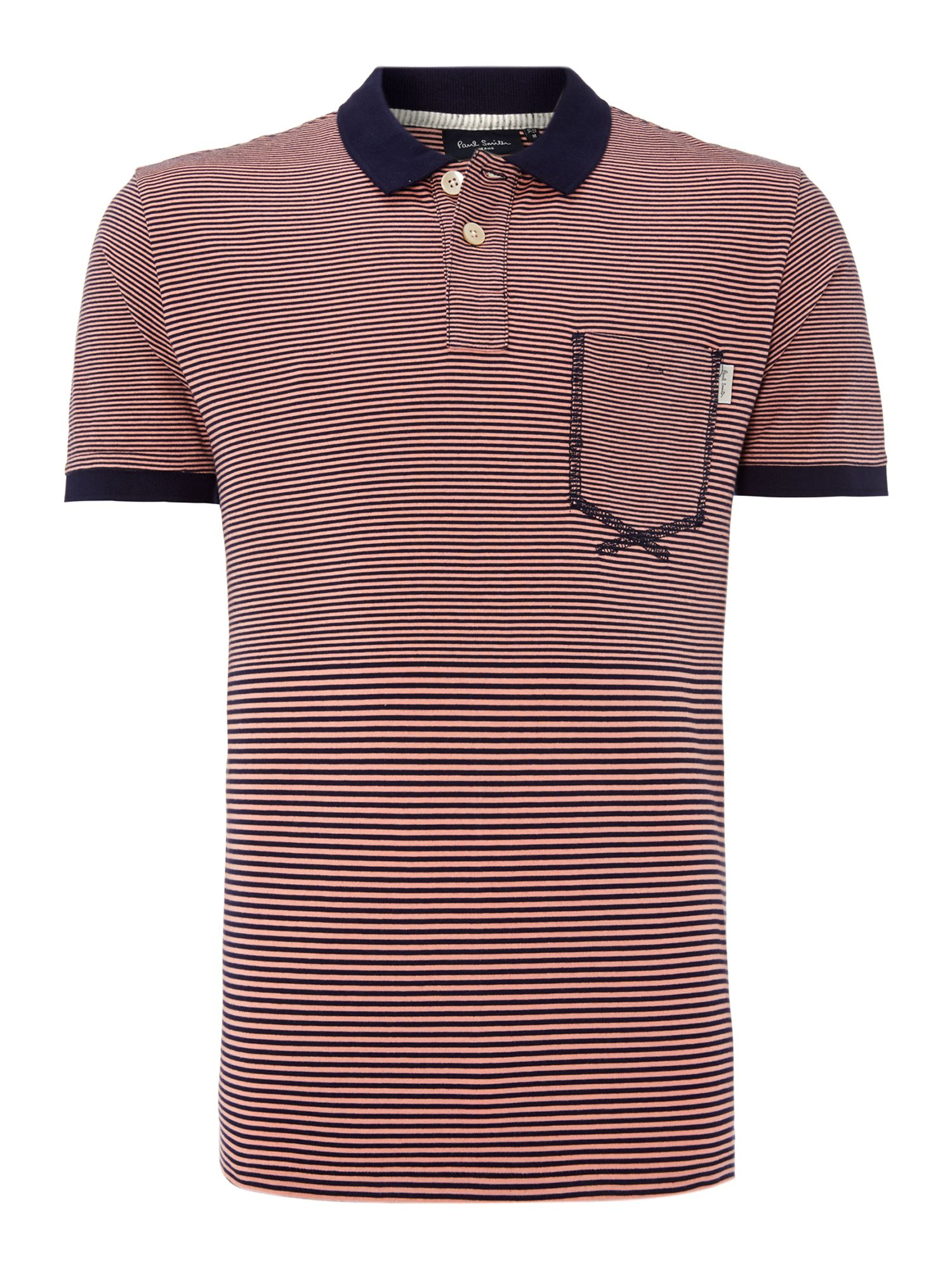 Stipe polo shirt