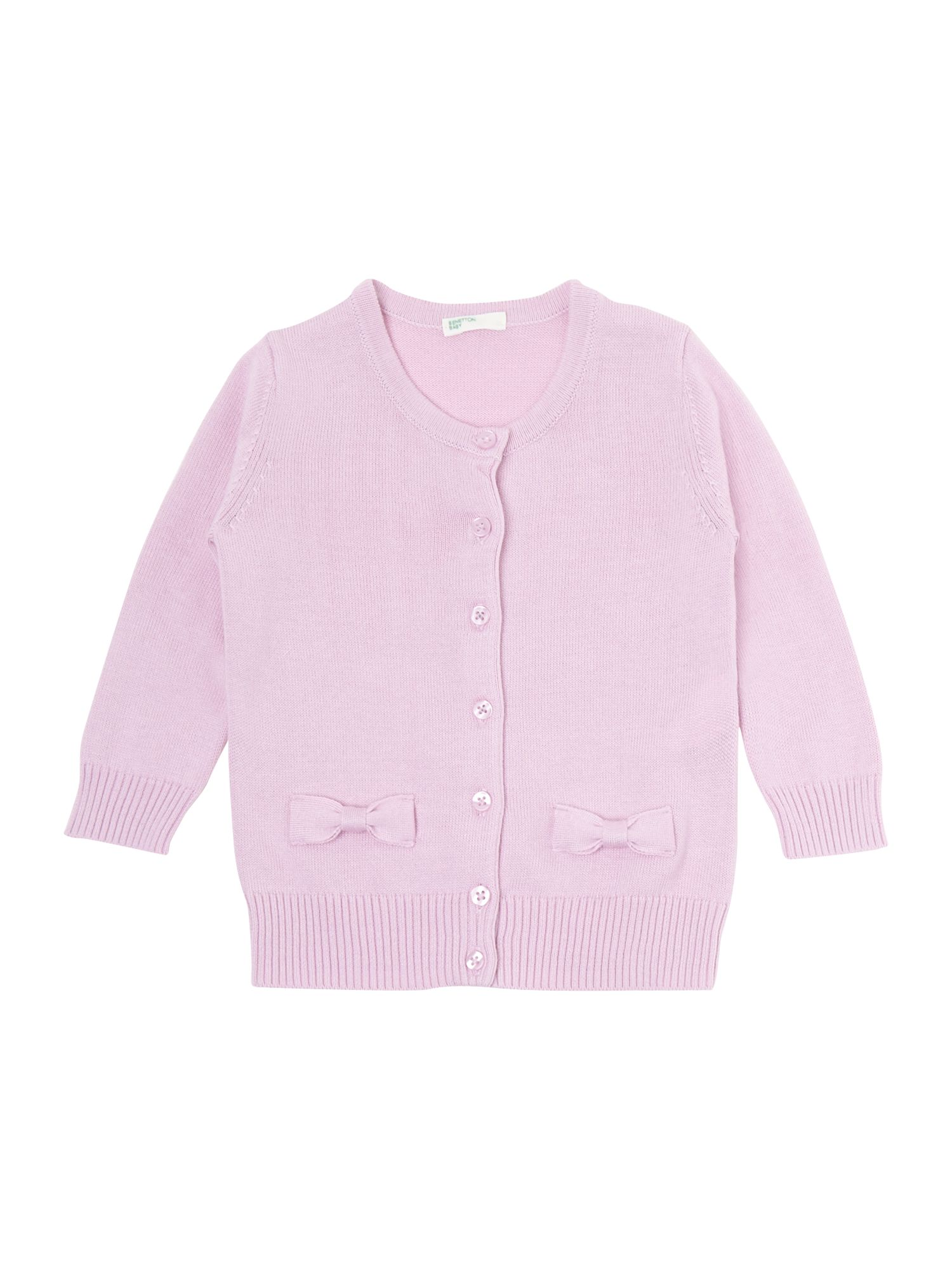 Girl`s knitted bow cardi