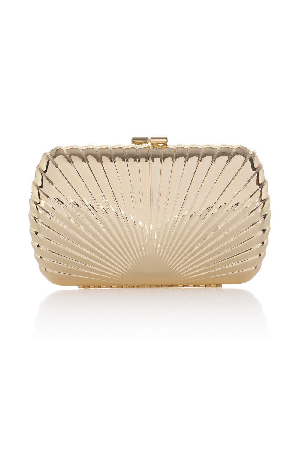 Gold sunray clutch