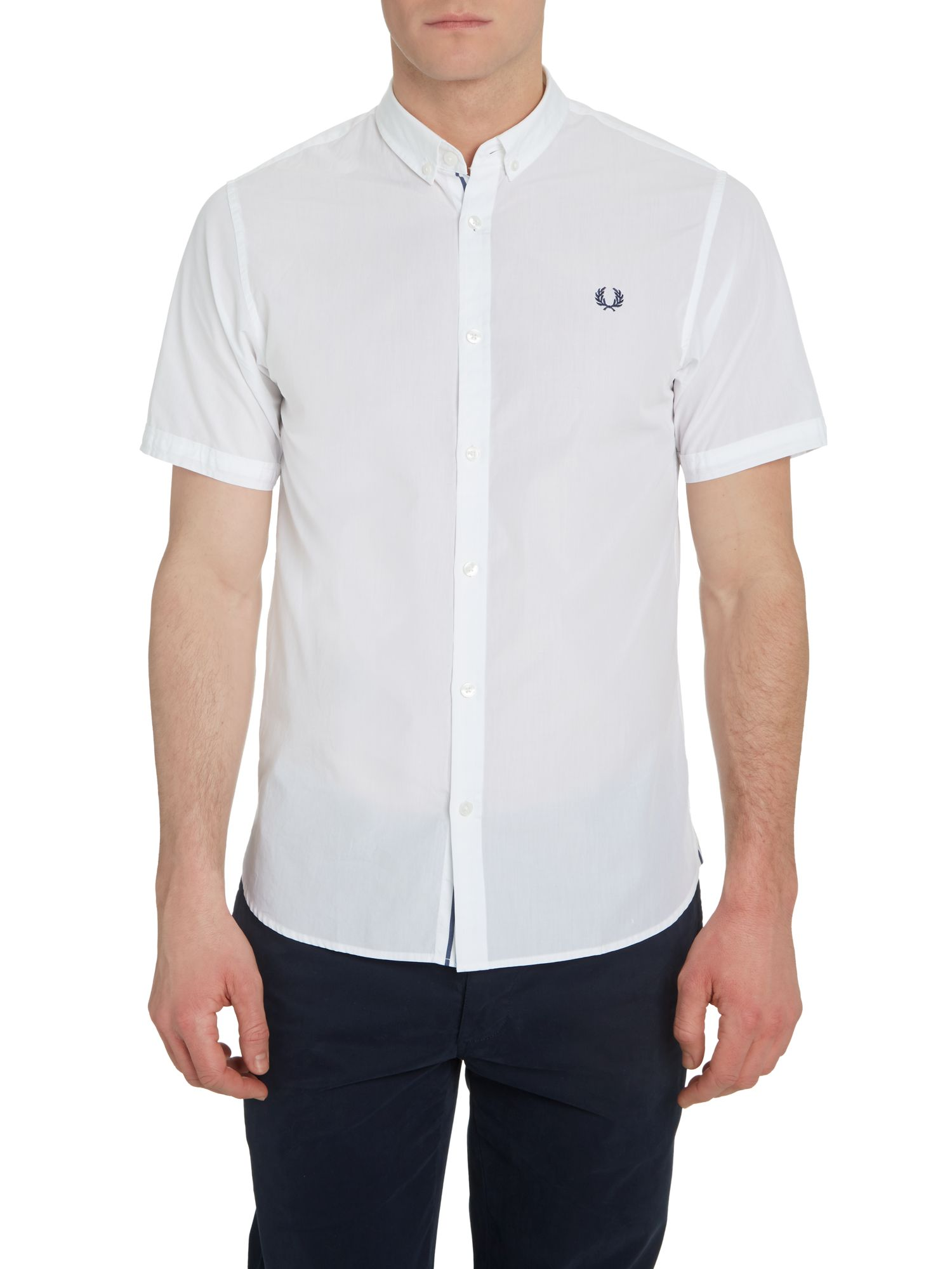 Short sleeved end on end shirt