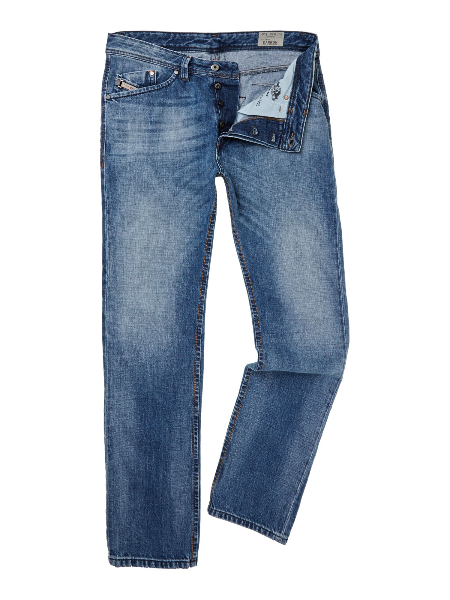 Darron 826A mid wash slim fit jean