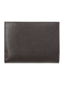 Saffiano black small flapover purse