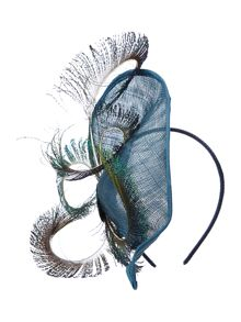 Exclusive peacock feather headpiece