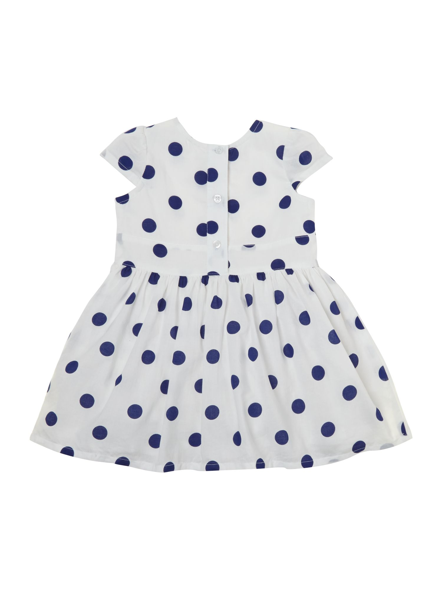 Girl`s spotty dress