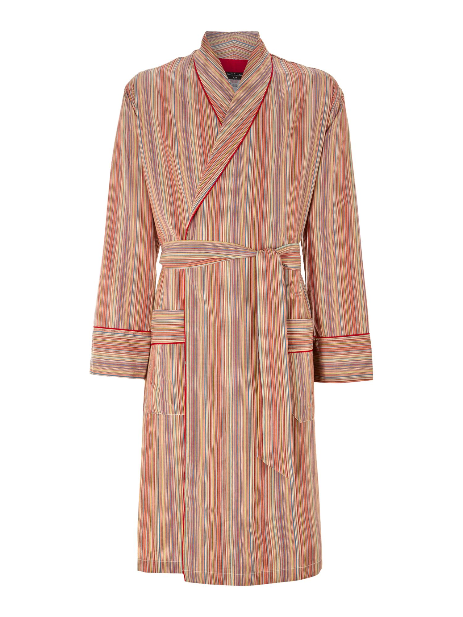 Multistripe robe