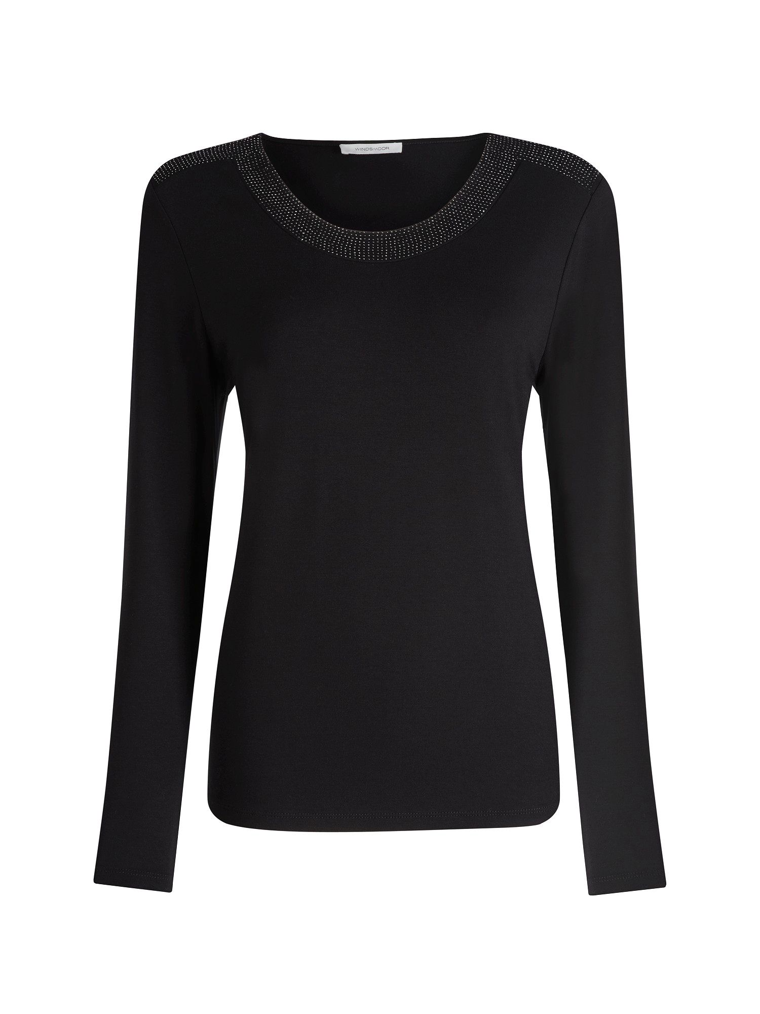 Black sparkle jersey top