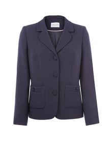 Navy moss crepe jacket