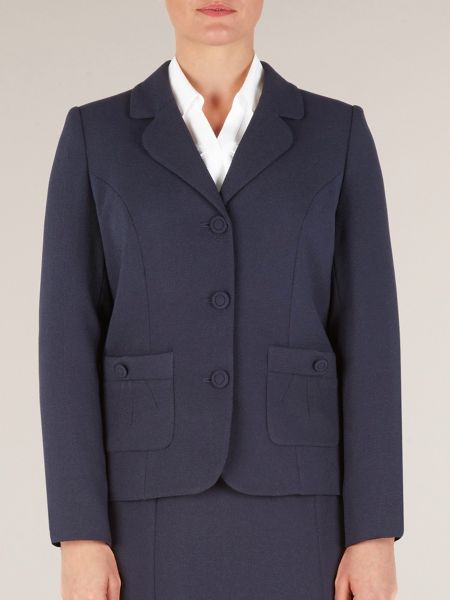 Eastex Navy moss crepe jacket