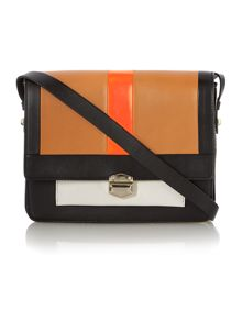 Kahlo multi coloured satchel bag