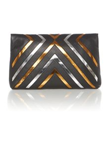 Nomad black clutch bag