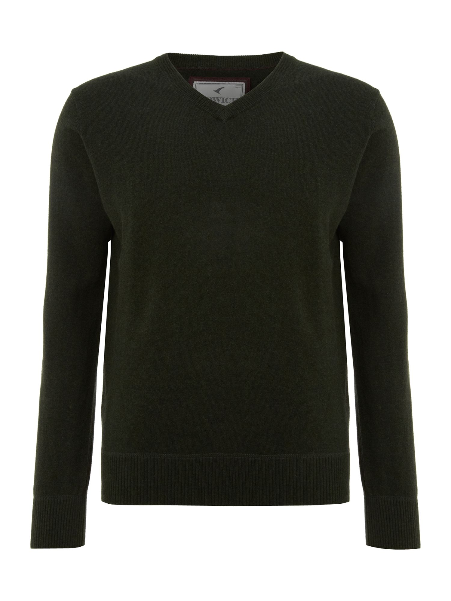 Cotton cashmere V-neck jumper made in Italy