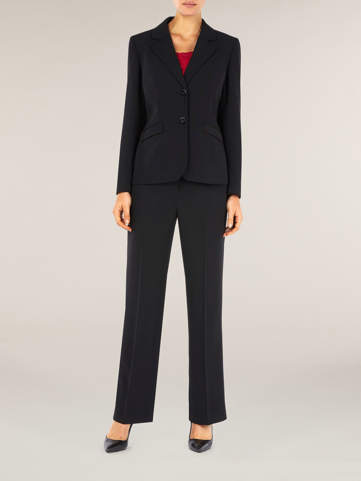 Tailored black suit jacket