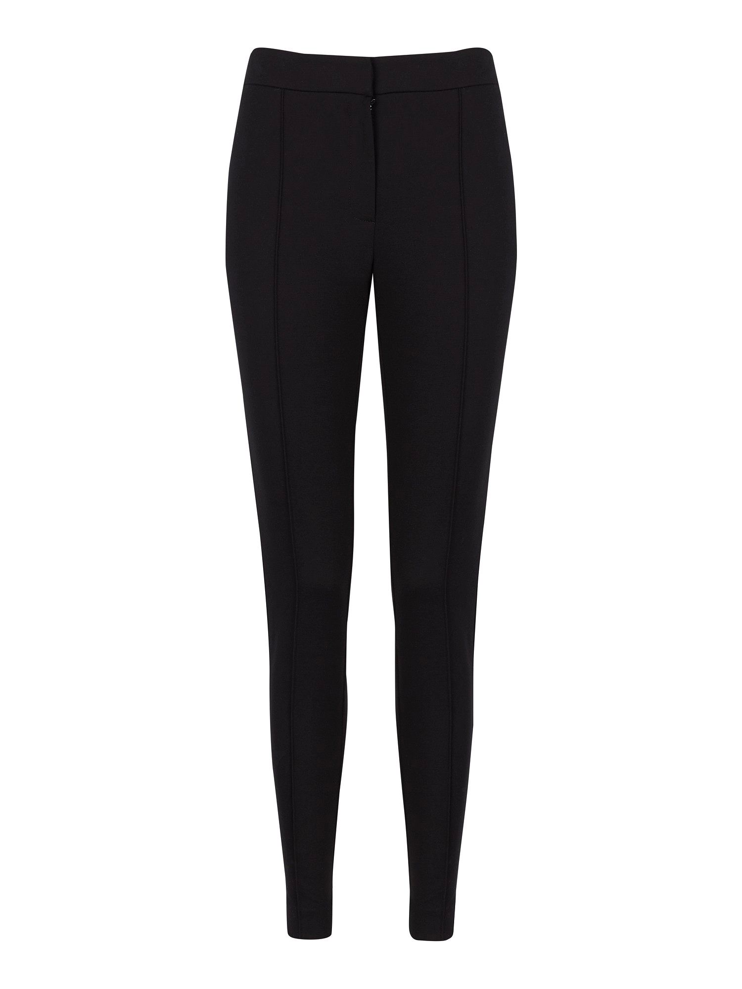 Black straight leg fitted leggings