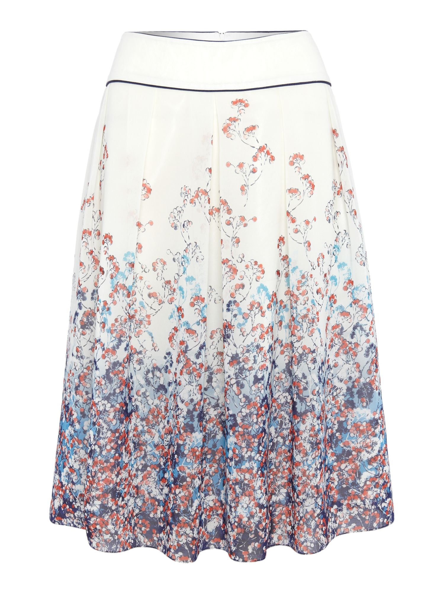 Heather floral print skirt