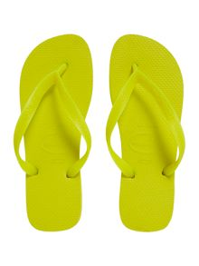 All over one colour flip flop