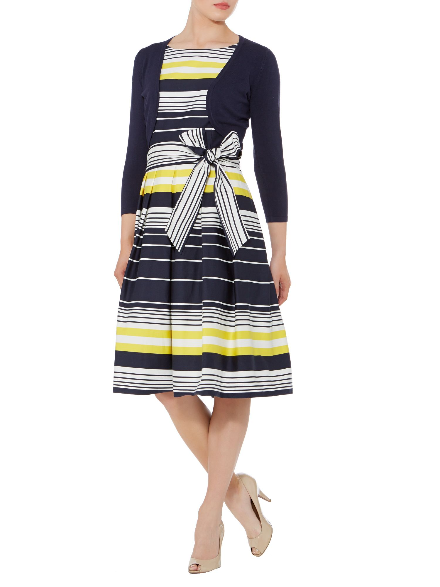 Heather stripe print dress