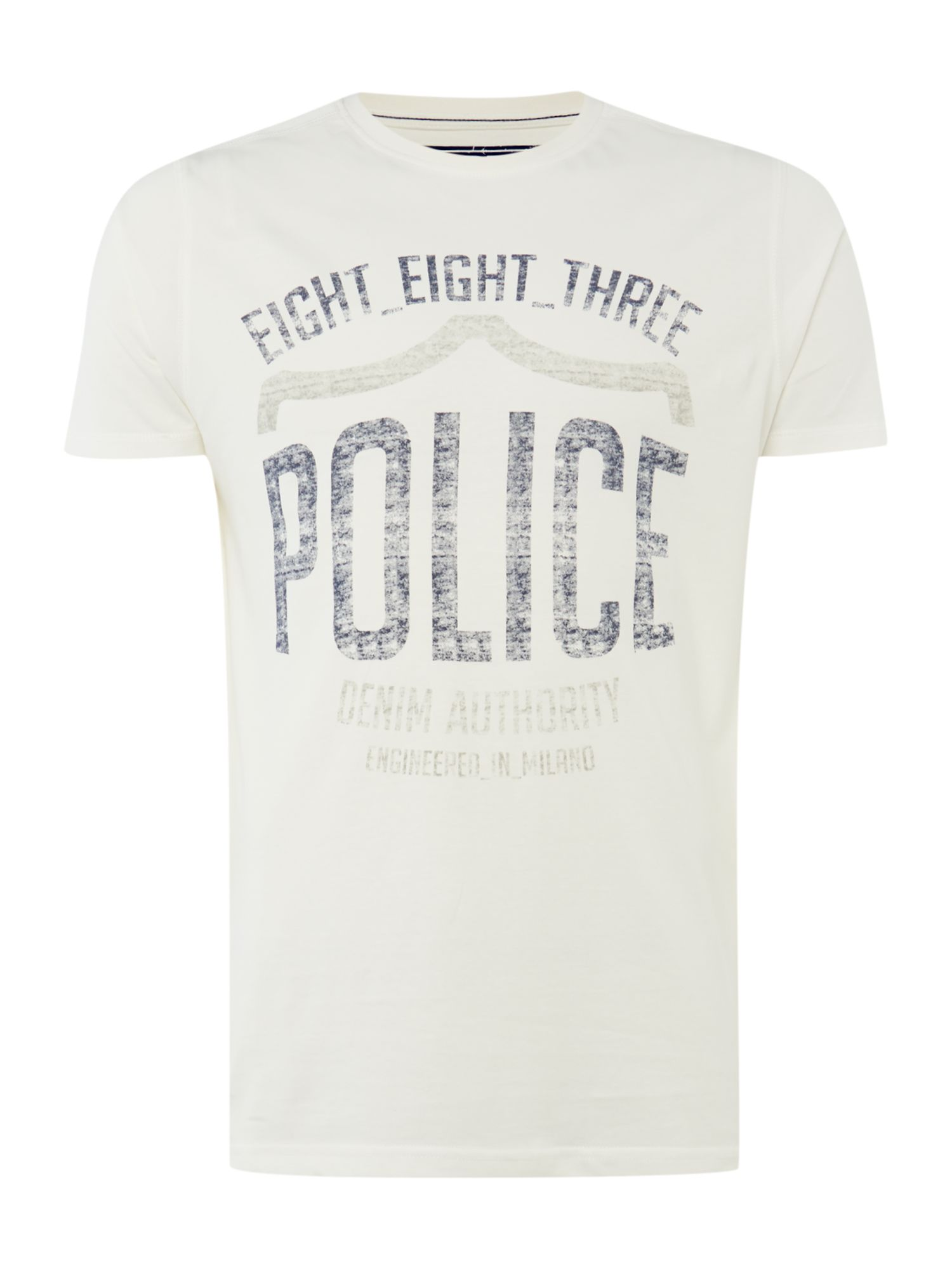 Police logo short sleeve t-shirt