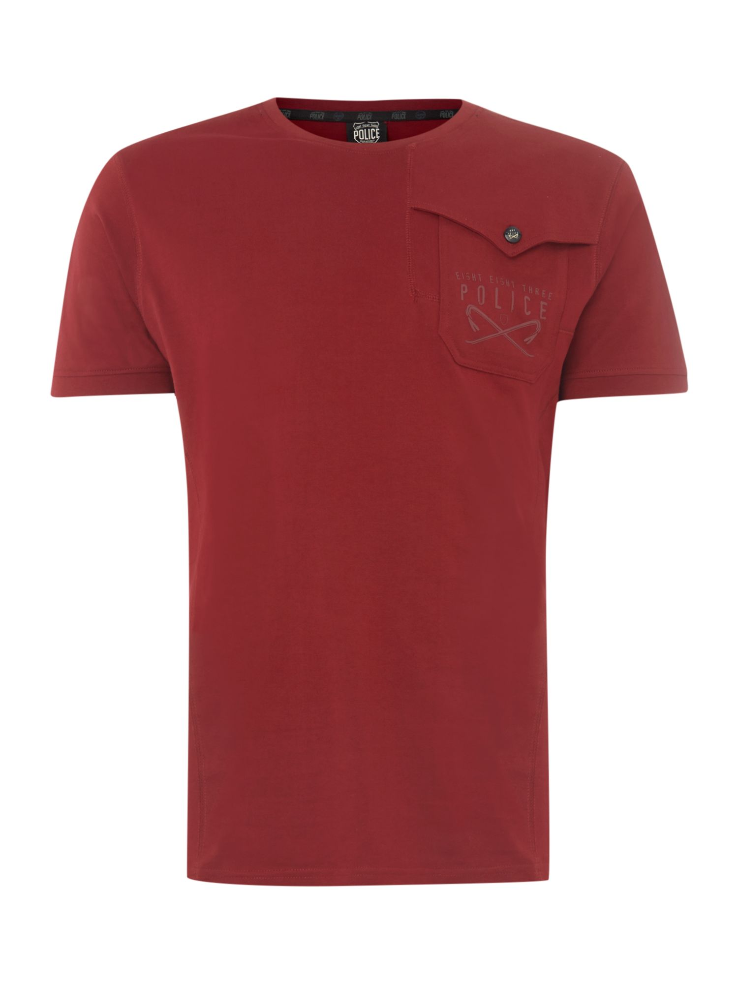 One pocket short sleeve t-shirt