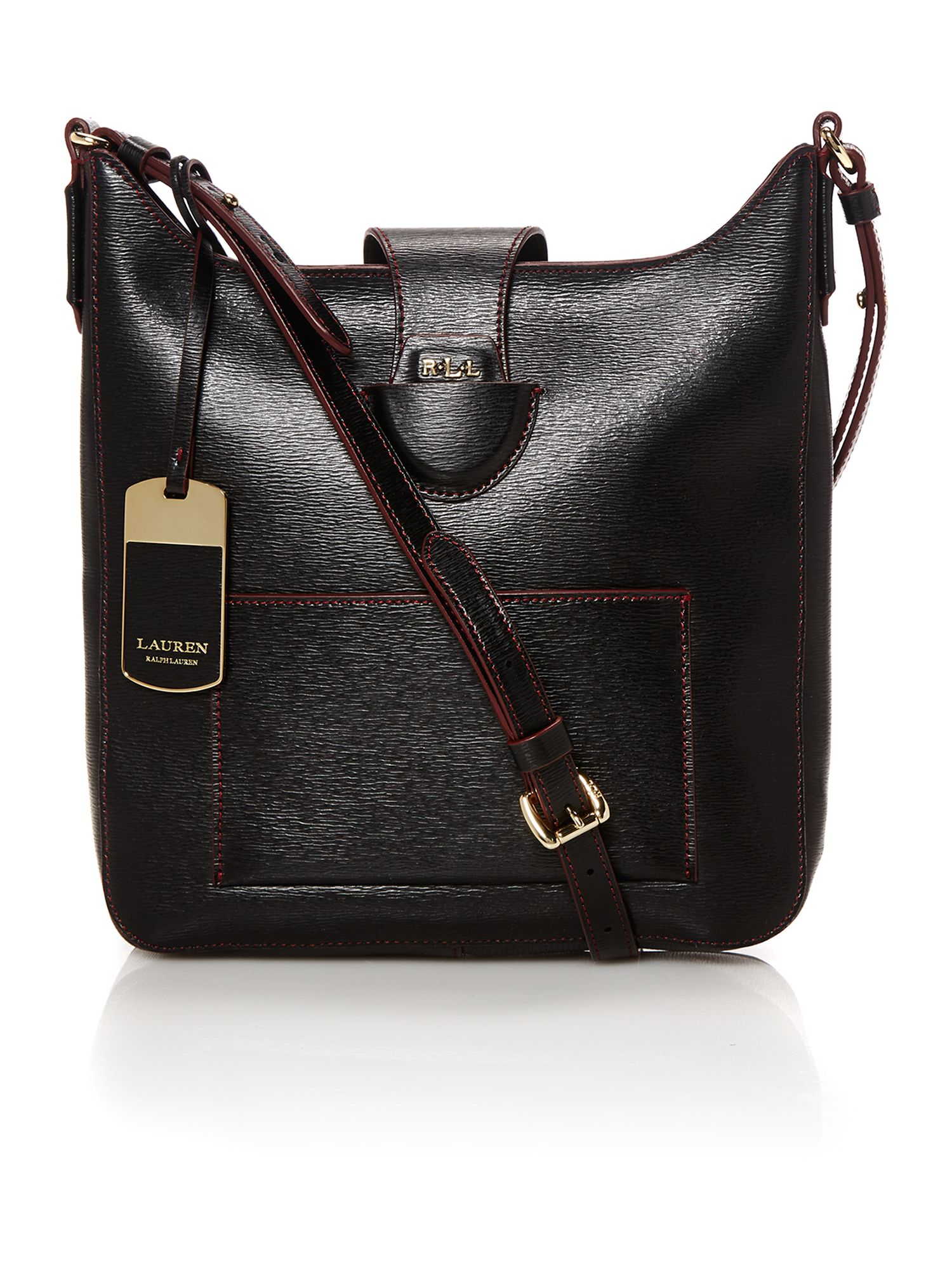 Tate black crossbody bag