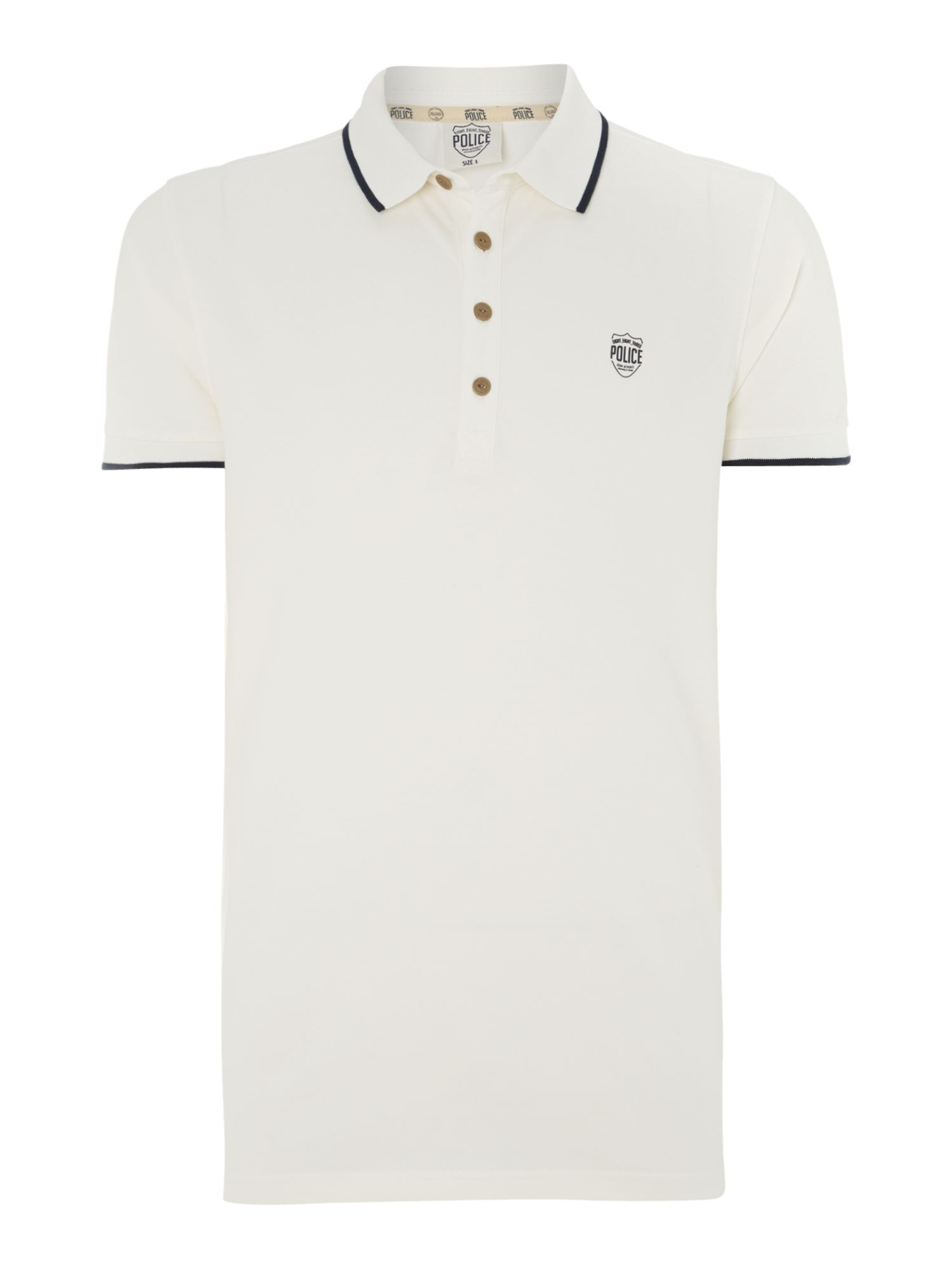 Basic tipped short sleeved polo