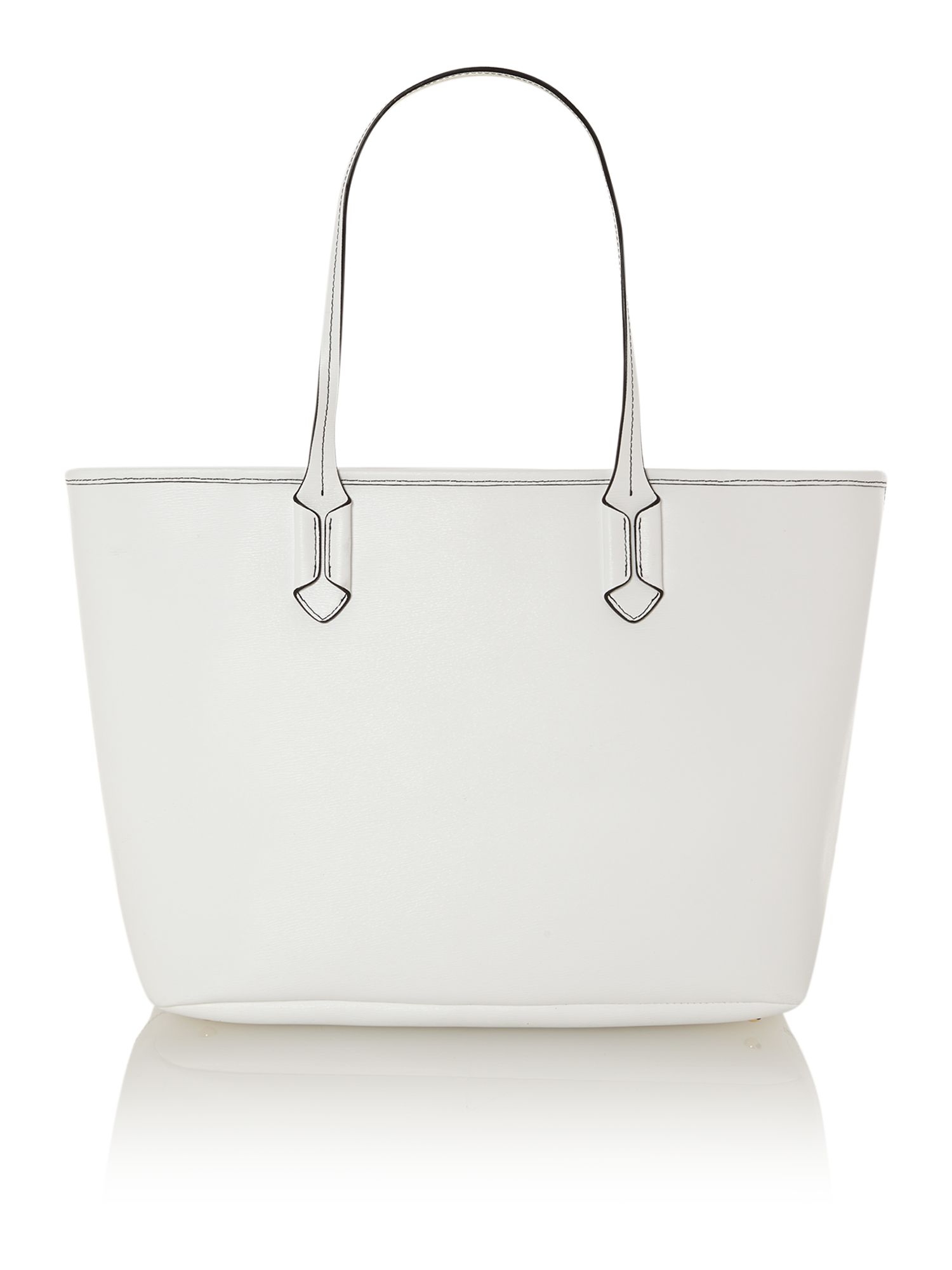 Tate white large tote bag