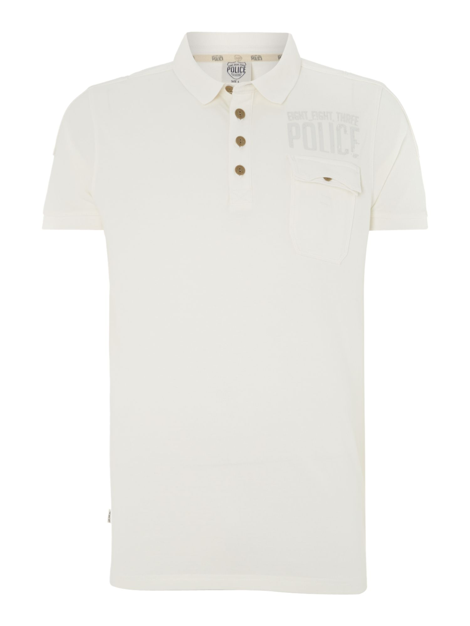 Layered pocket short sleeve polo