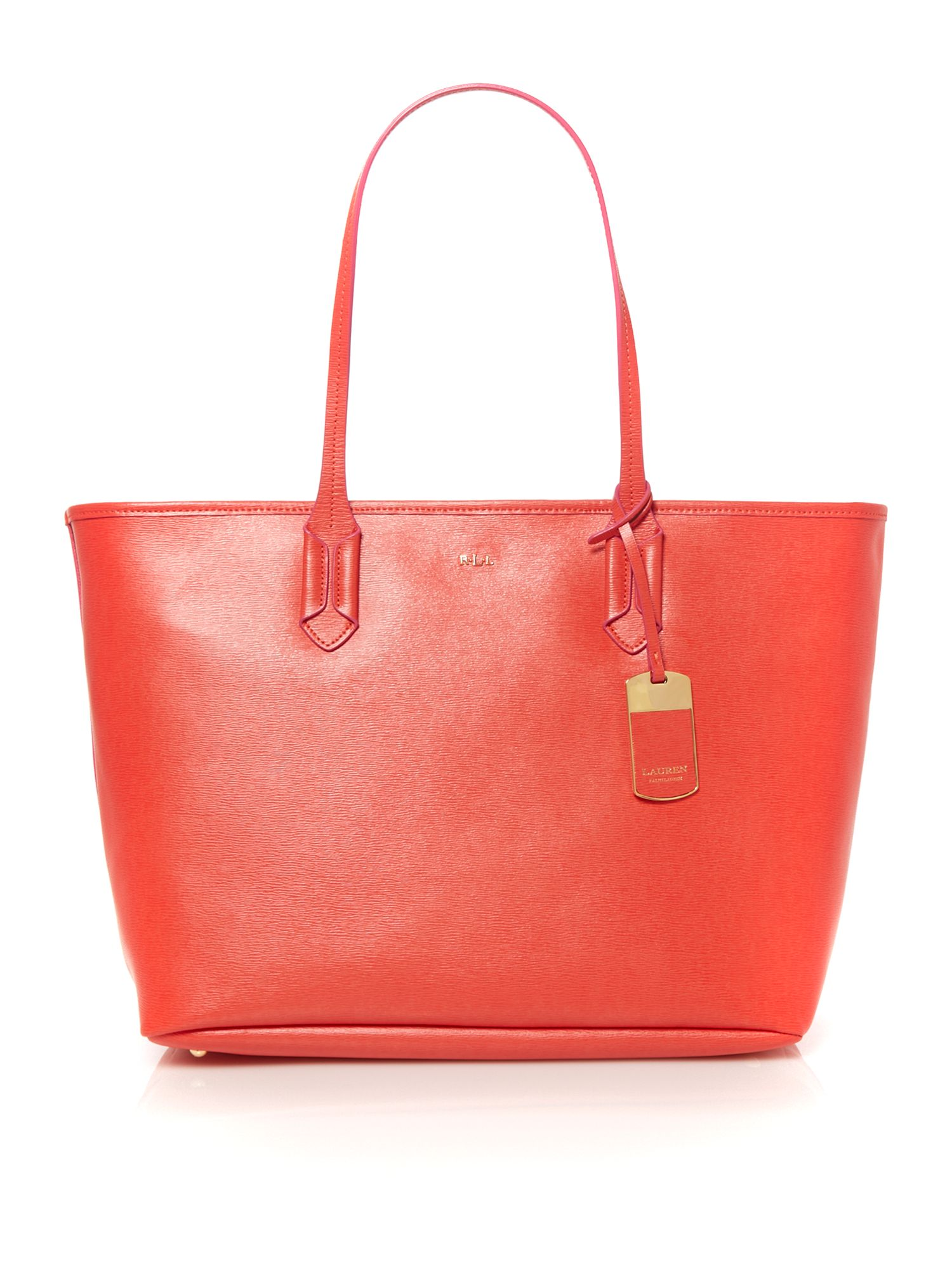 Tate coral large tote bag