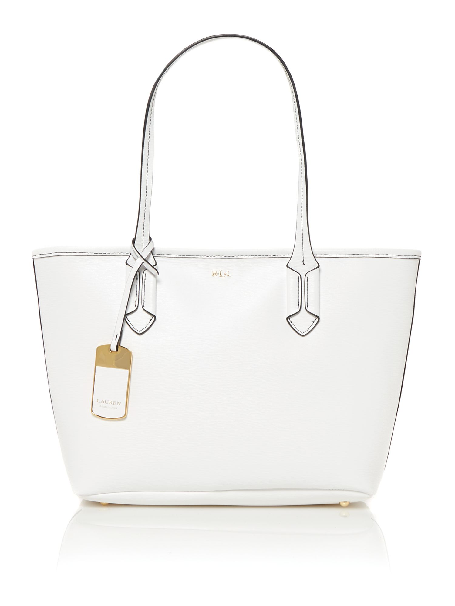Tate white small tote bag