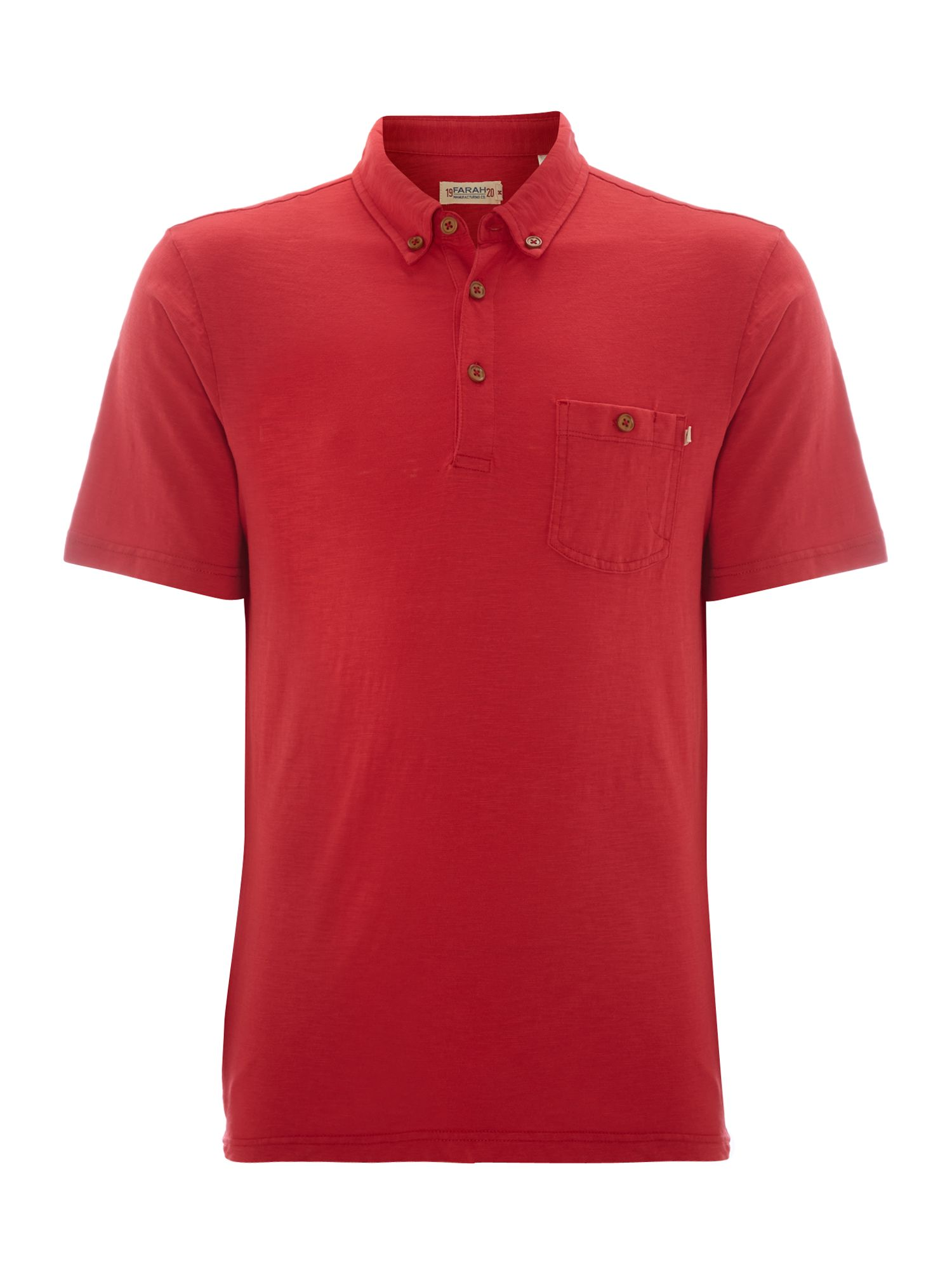 Button down collar one pocket stapleford polo