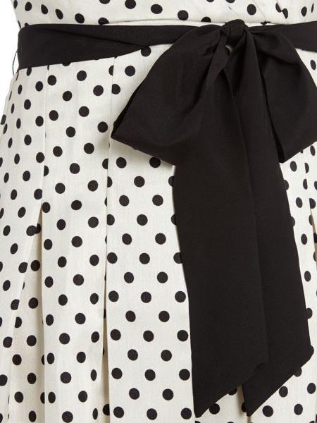 Eliza J Polka Dot Shirt Dress