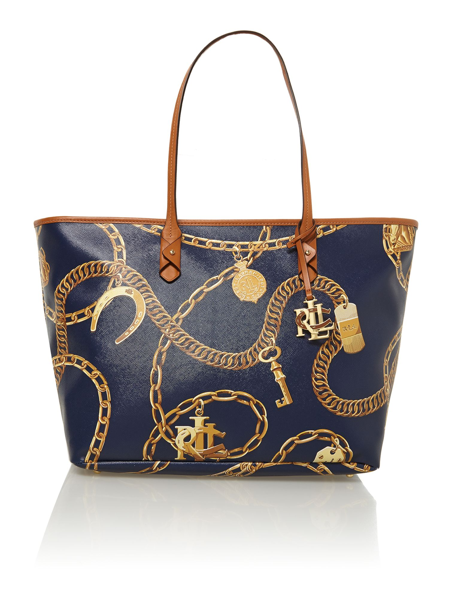 Halstead navy large tote bag