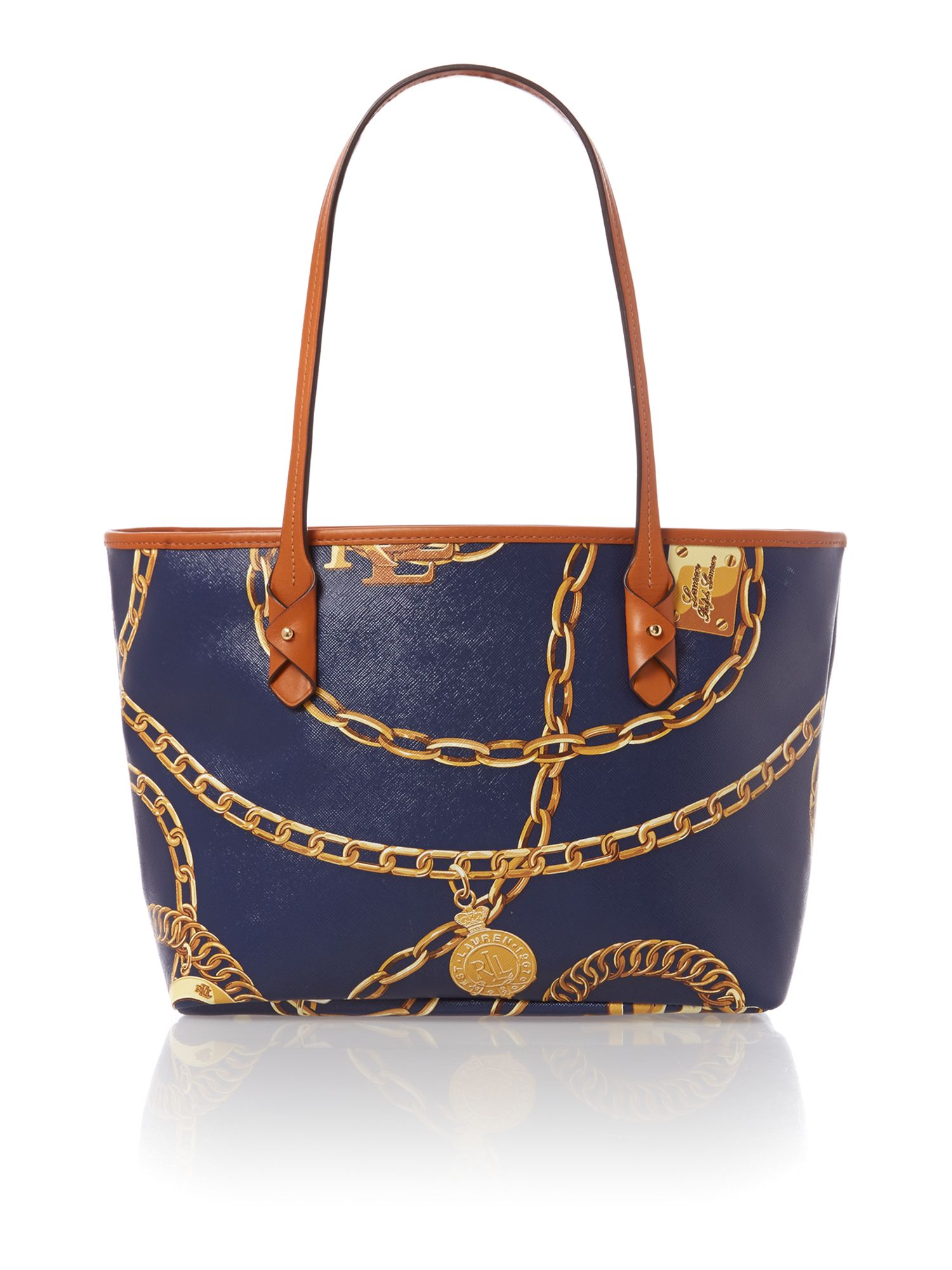 Halstead navy small tote bag