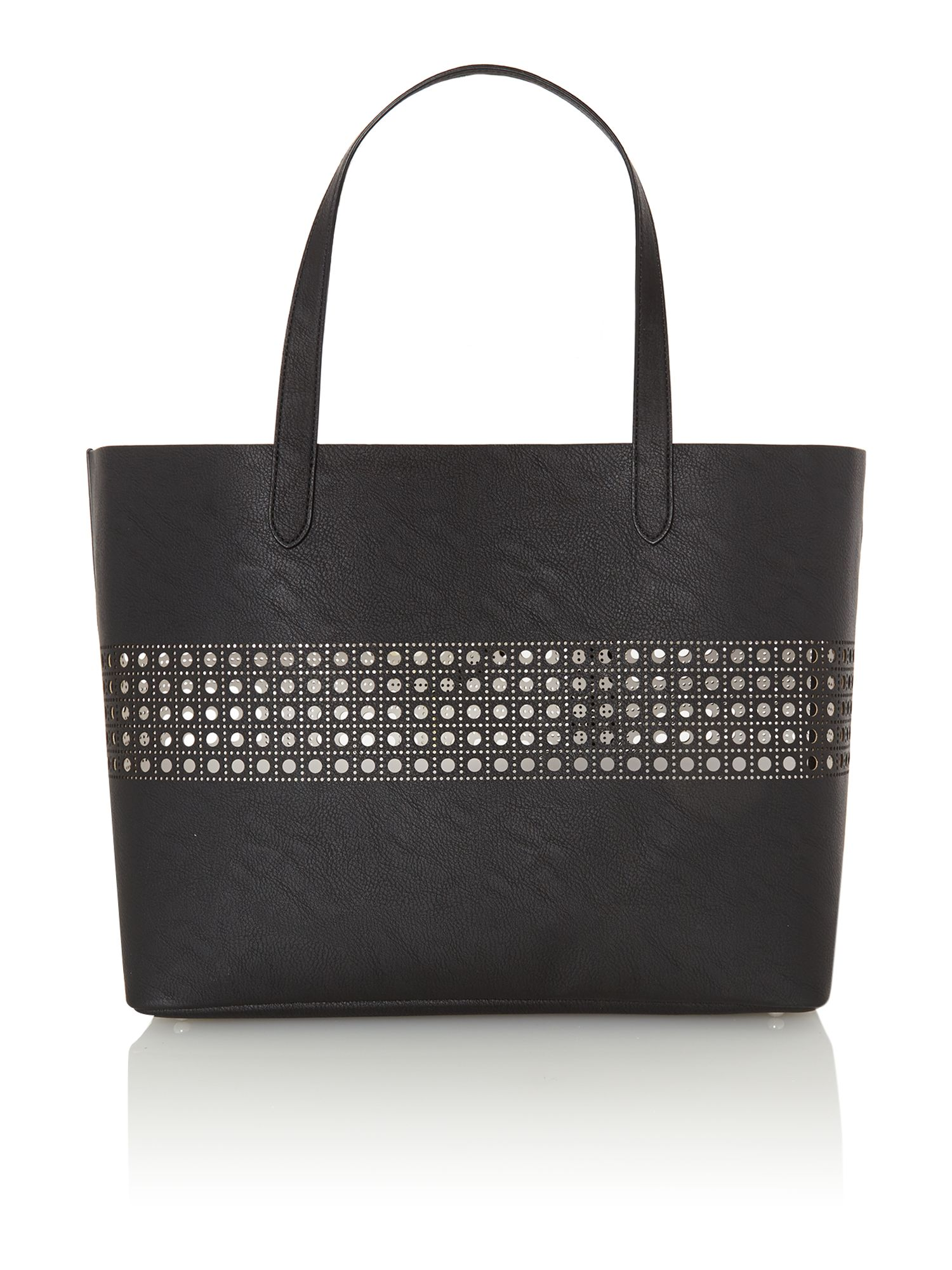 Leighton black large tote bag