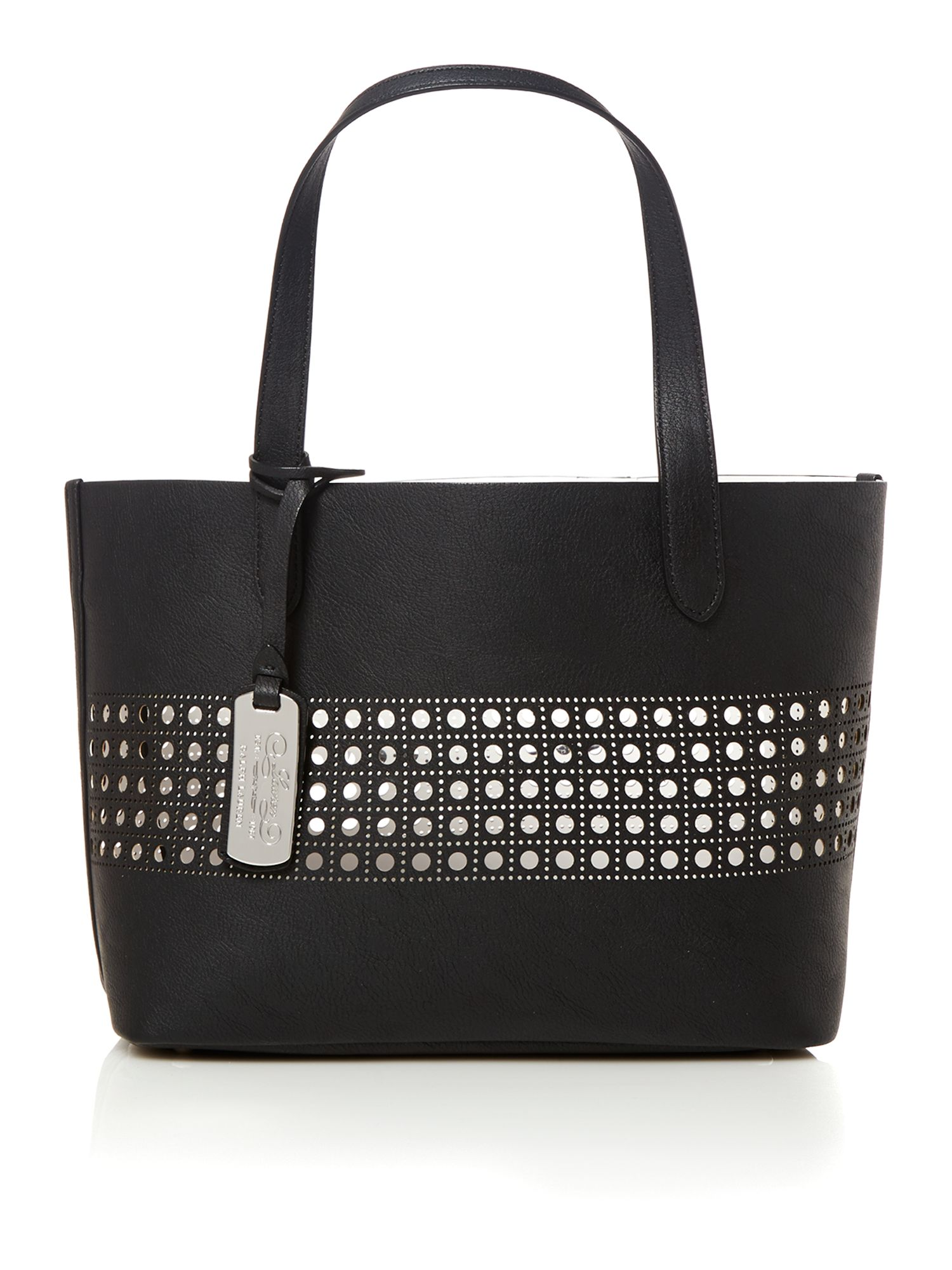 Leighton black small tote bag