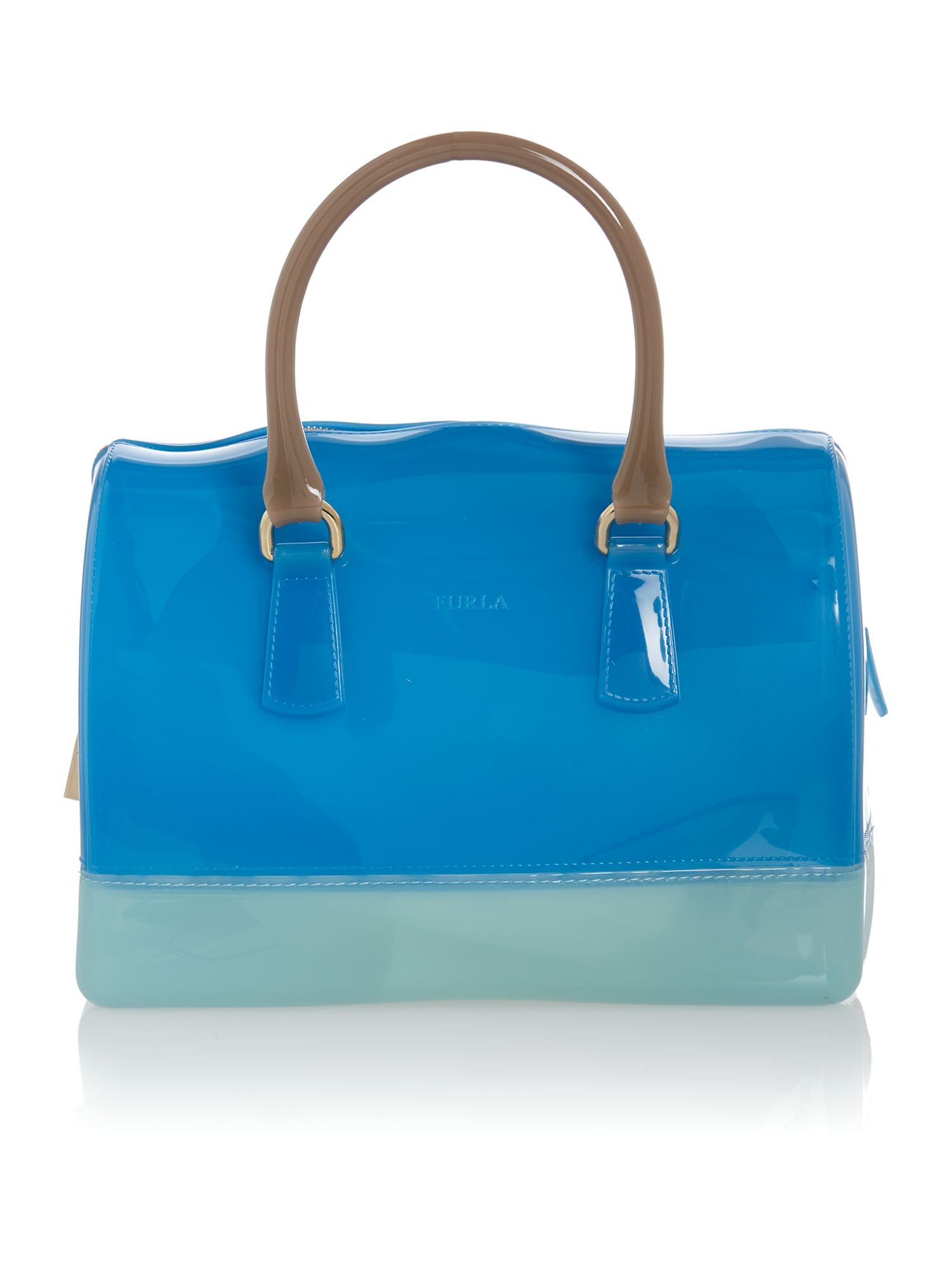 Candy blue bowling bag