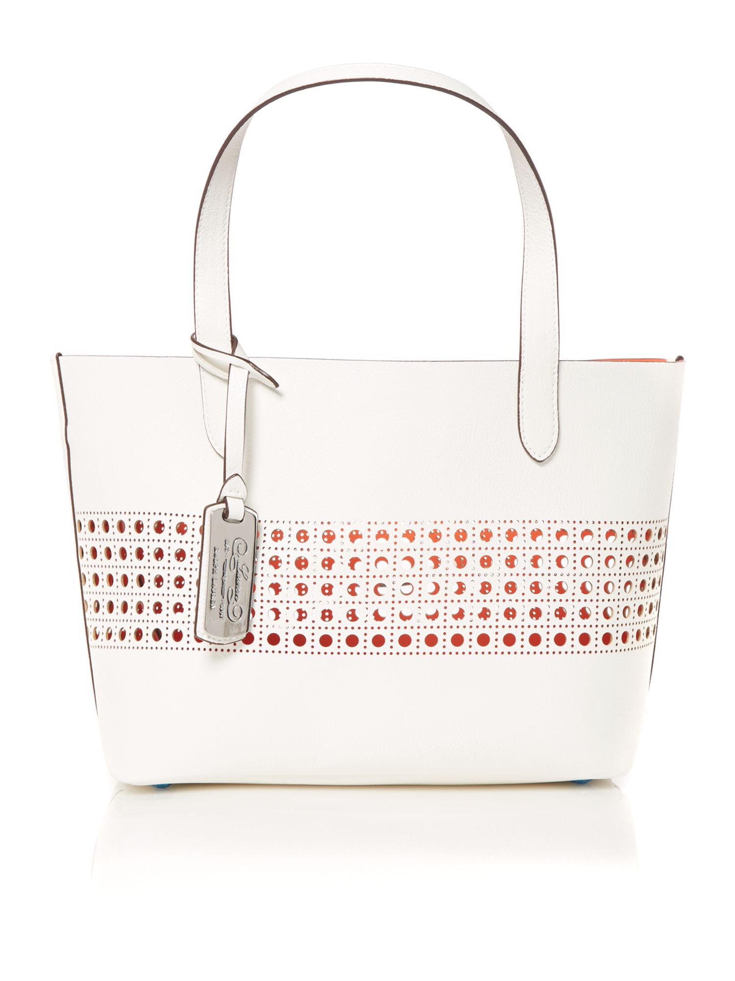 Leighton white small tote bag