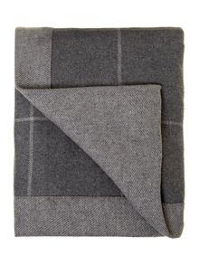 Grey herringbone blanket