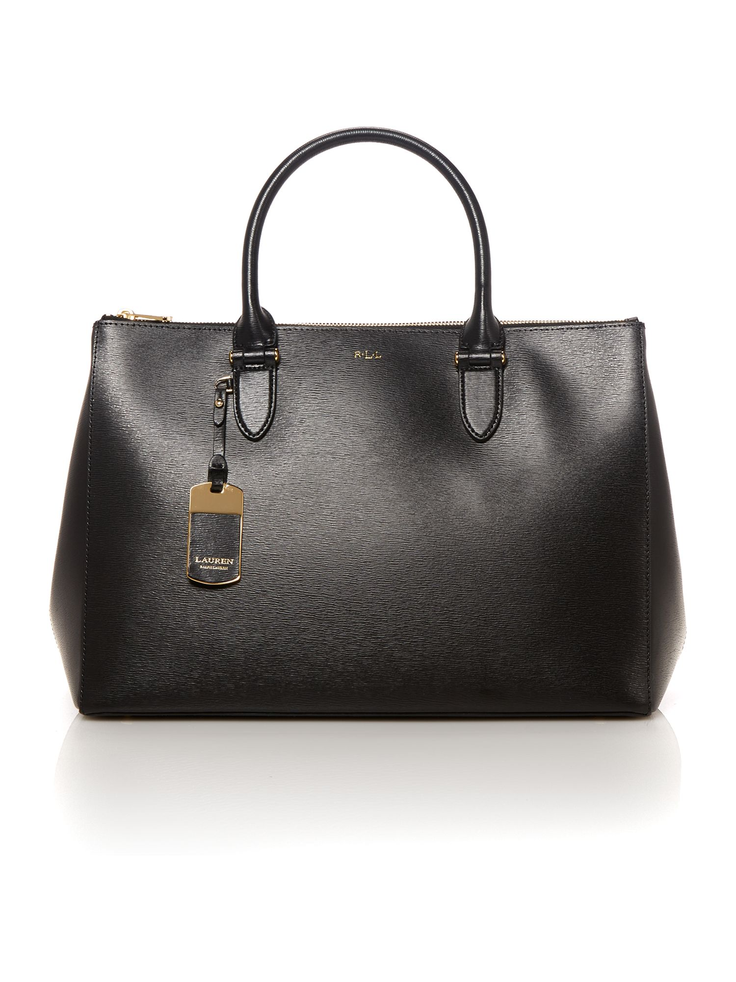 Newbury black large tote bag
