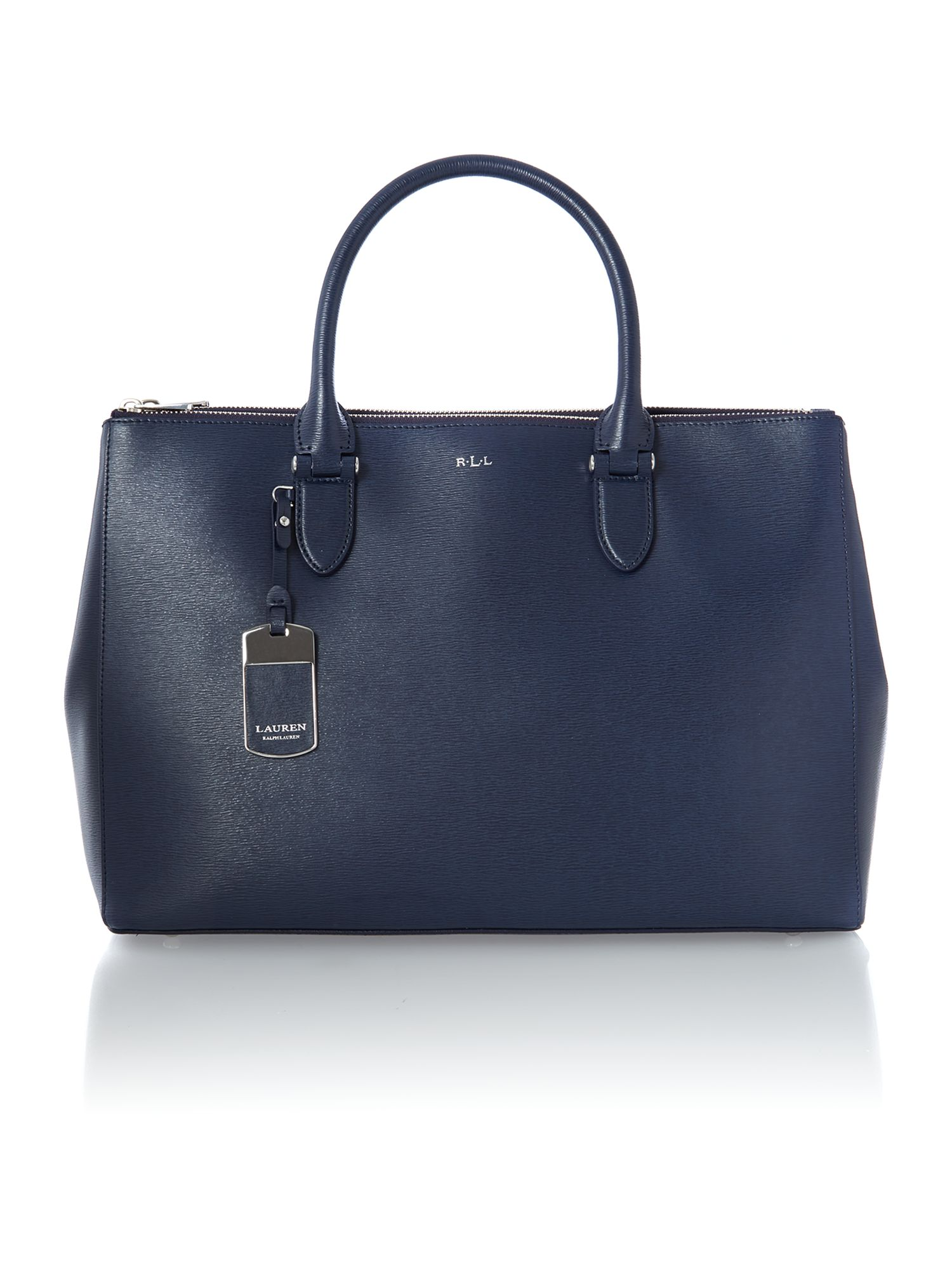 Newbury navy large tote bag