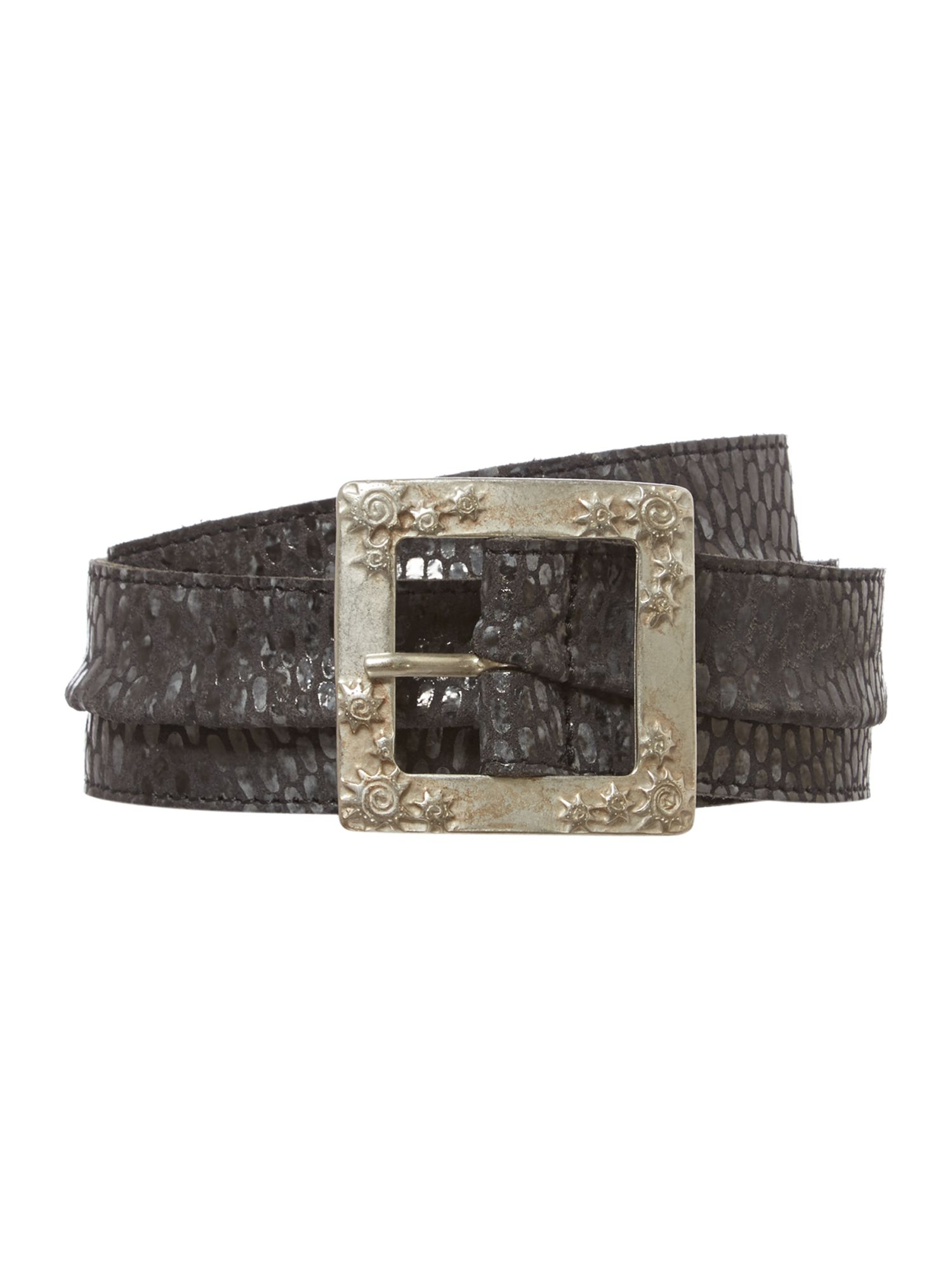 Snake leather belt
