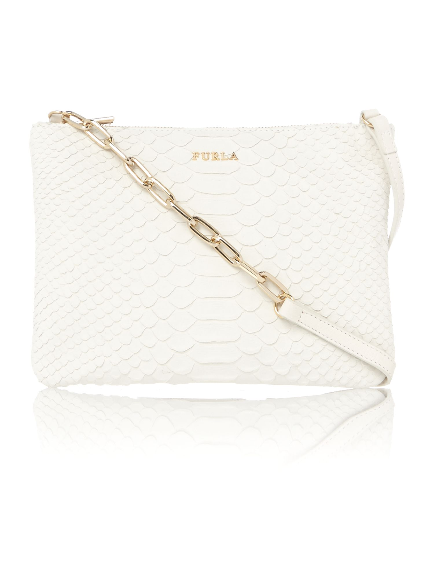 Royal white snake cross body bag