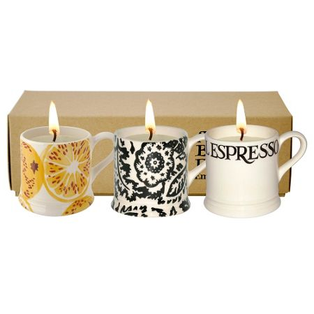 Emma Bridgewater Toast & Marmalade 3 mini filled candle mugs