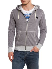 Hooded rinse wash sweatshirt