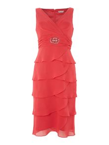 Eliza J Sleeveless Shutter Dress